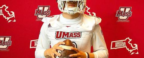QB Ryan Cammas at the University of Mass