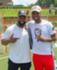 Coach Aaron with Legendary QB Trainer Qu