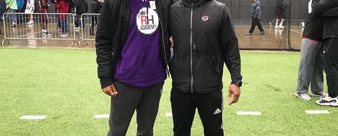 Coach Aaron with Coach Aazaar at UMASS