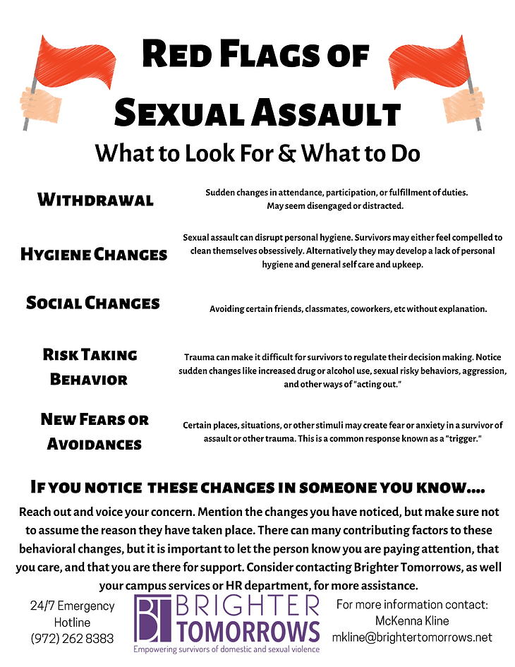 Sexual Assault Red Flags