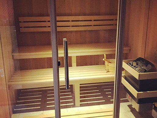 Sauna and shower for a beach house in Deal