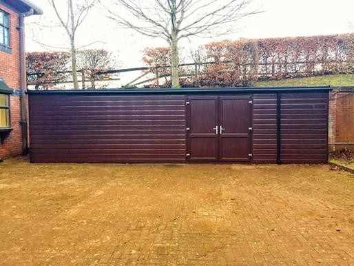 Some shelter and storage works undertaken for a repeat commercial client.