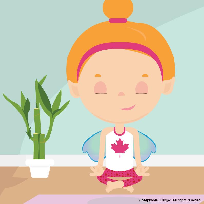 Yoga Fairy - Personal Illustration by Stephanie Billinger