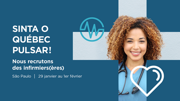 Talent Montréal promove missão de recrutamento: 100 vagas para enfermeiros