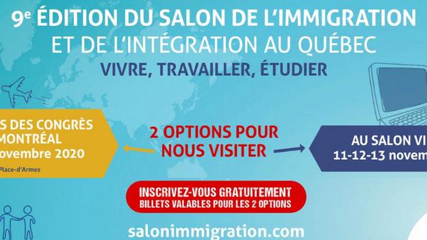 Le Salon de l'immigration et de l'intégration au Québec sera aussi accessible en mode virtuel !