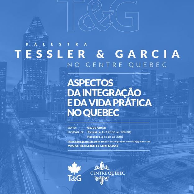 Palestra sobre integração e vida prática no Québec - Centre Québec
