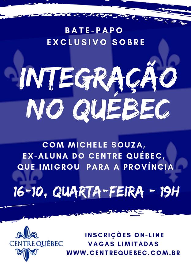 Bate-papo em 16/10 sobre Integração no Québec