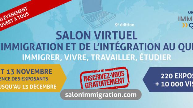 Le Salon de l'immigration, le plus grand événement virtuel jamais organisé au Québec