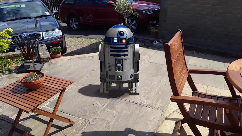 Artoo on the Patio