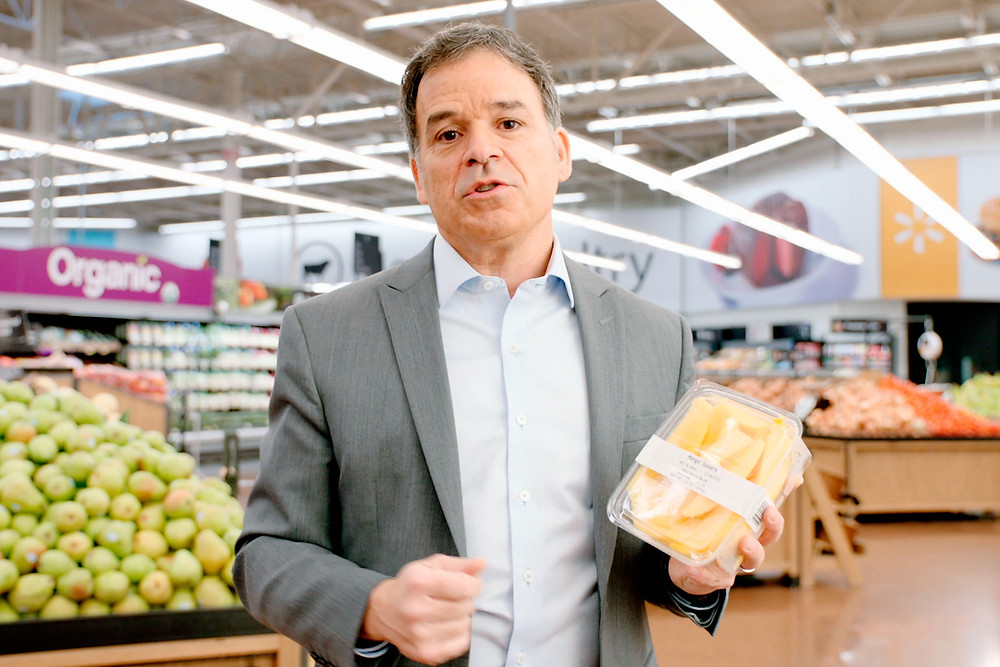 FRUITFUL RESEARCH. Frank Yiannas, vice president of food safety at Walmart, worked with IBM on a pilot project to track mangoes through the company's supply chain using a blockchain. Courtesy of Walmart