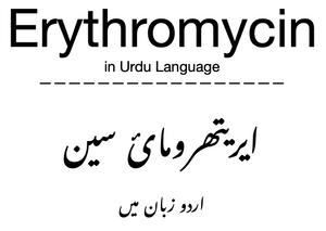 Erythromycin in Urdu Language
