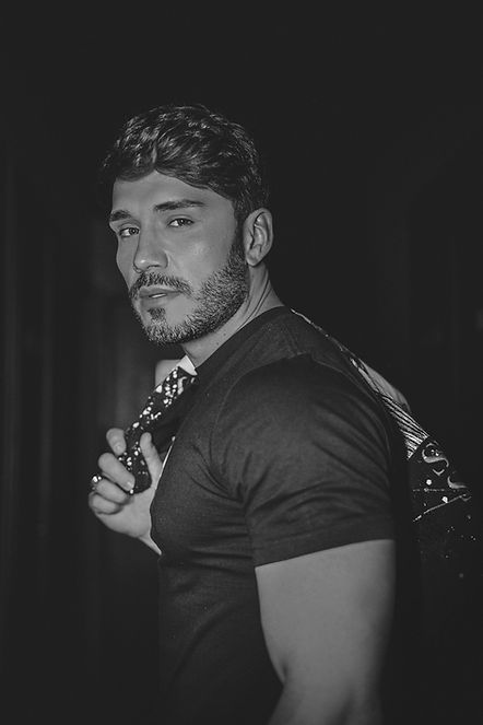 Lucas Viana em ensaio fotográfico em setembro de 2020