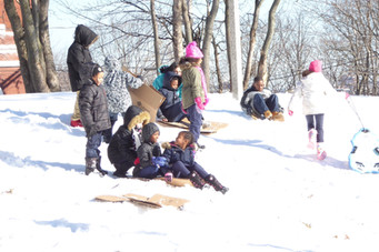 Fun in the Snow (Grade 2) - not our typical recess
