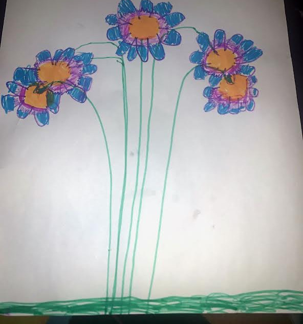 """""""Flower Power"""" Victoria Mitchell- Gr. 2"""