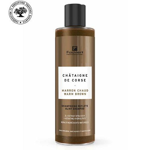 Shampooing reflets marron chaud -châtaigne de Corse