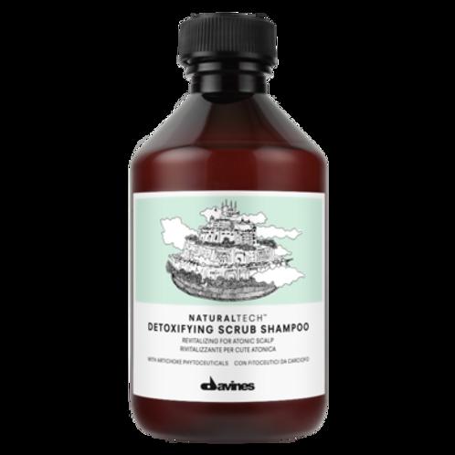 Detoxifying scrub shampooing