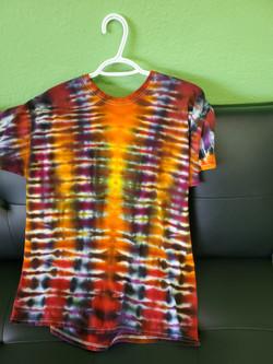 T-shirt-Vertical stripes yellow, orange,