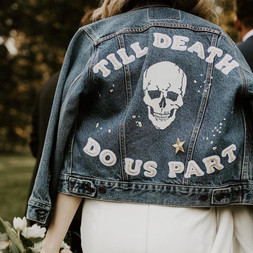 Till death do us part leather jacket