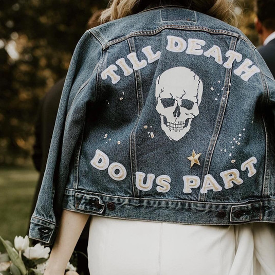 Till death do us part leather jacket