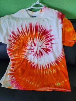 T-shirt Swirl-pink, orange and white