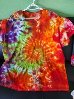 T-shirt Swirl-orange,green, pink and pur