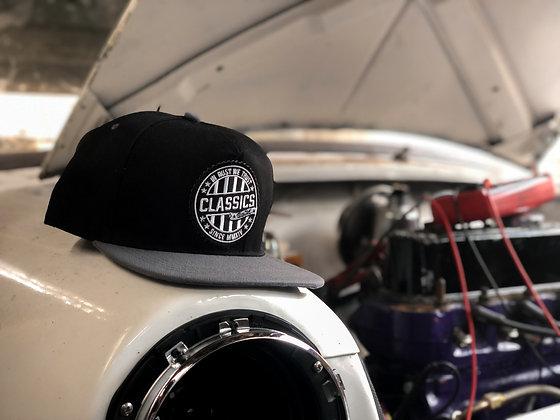 Black/Grey Round Patch Cap