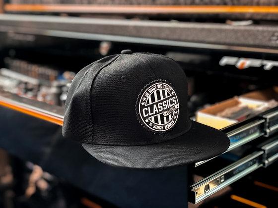 Black Round Patch Cap