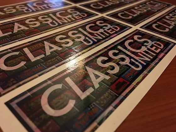 'Classics United' Slap Decal