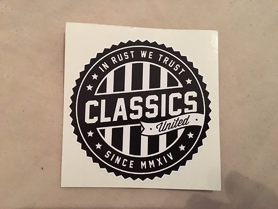 Classics United Logo Sticker