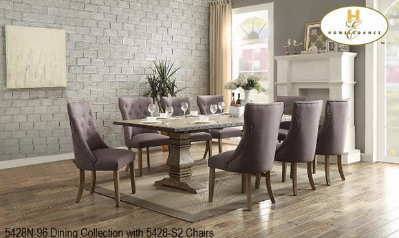 5428 7pc Dining Table Set