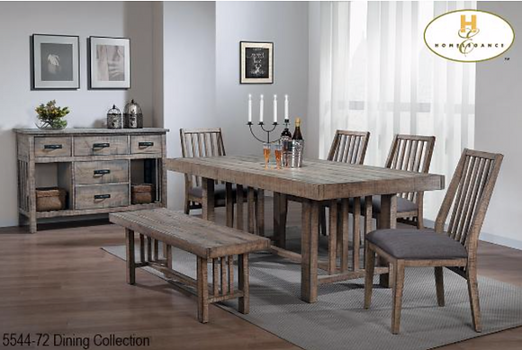5544 6pc Dining Table Set