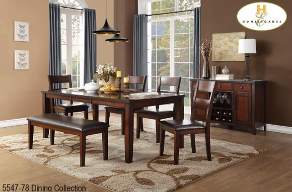 5547 6pc Dining Table Set