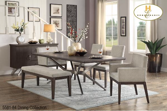 5581 6pc Dining Table Set