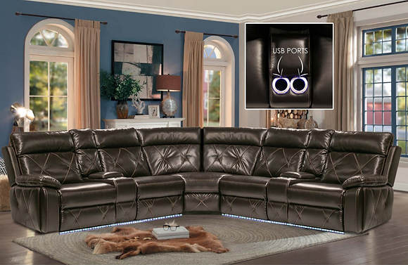 Tricia LED Power Sectional