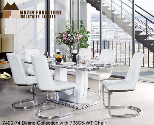 7409 7pc Dining Table Set