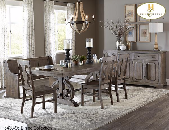 5438 6pc Dining Table Set
