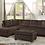 Thumbnail: 8367 Sectional Sofa with Ottoman