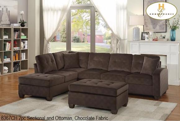 8367 Sectional Sofa with Ottoman