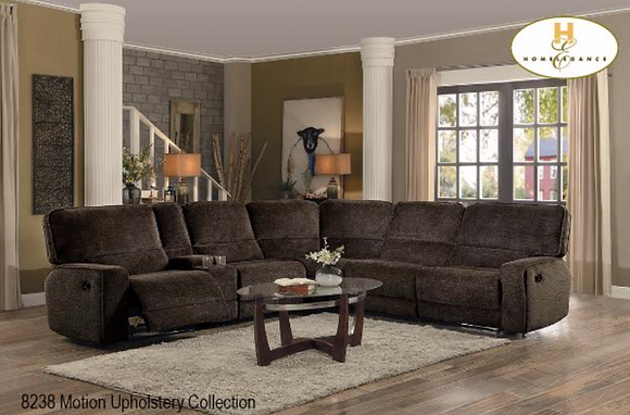 8238 Sectional Recliner