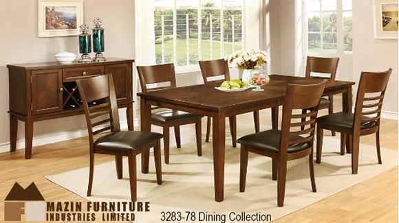 3283 7pc Dining Table Set