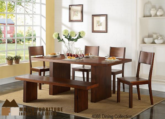 4088 6pc Dining Table Set