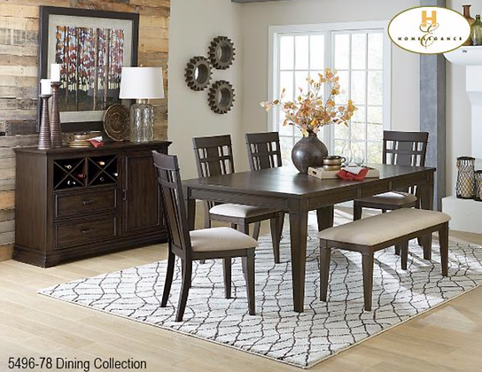 5496 6pc Dining Table Set