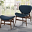 Thumbnail: 1135 Accent Chair with Foot Stool