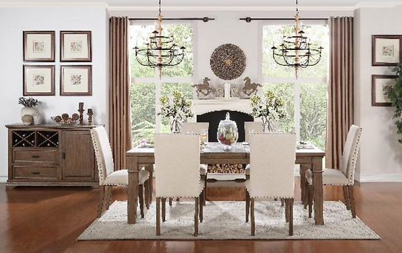 5108 7pc Dining Table Set