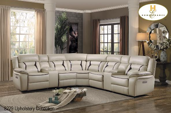 8229 Recliner Sectional