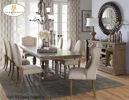 5545 7pc Dining Table Set
