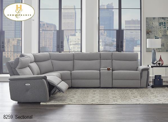 8259 Power Recliner Sectional