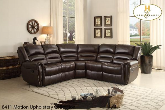 8411 Sectional Recliner