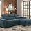 Thumbnail: 8228 Sectional Sofa Bed