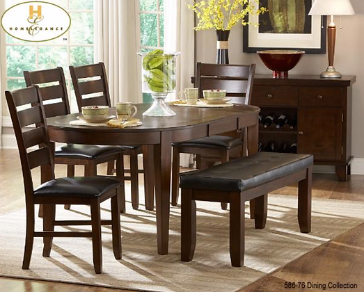 586-74 6pc Dining Table Set
